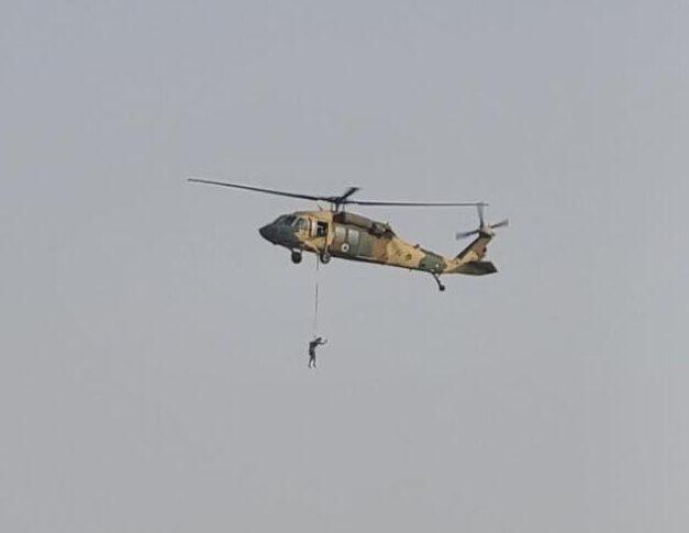 Taliban flying Black Hawk over Kabul