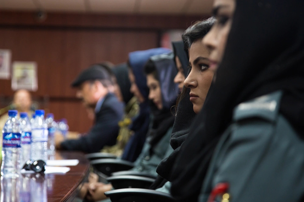 First Female Afghan Police Officers - Protest
