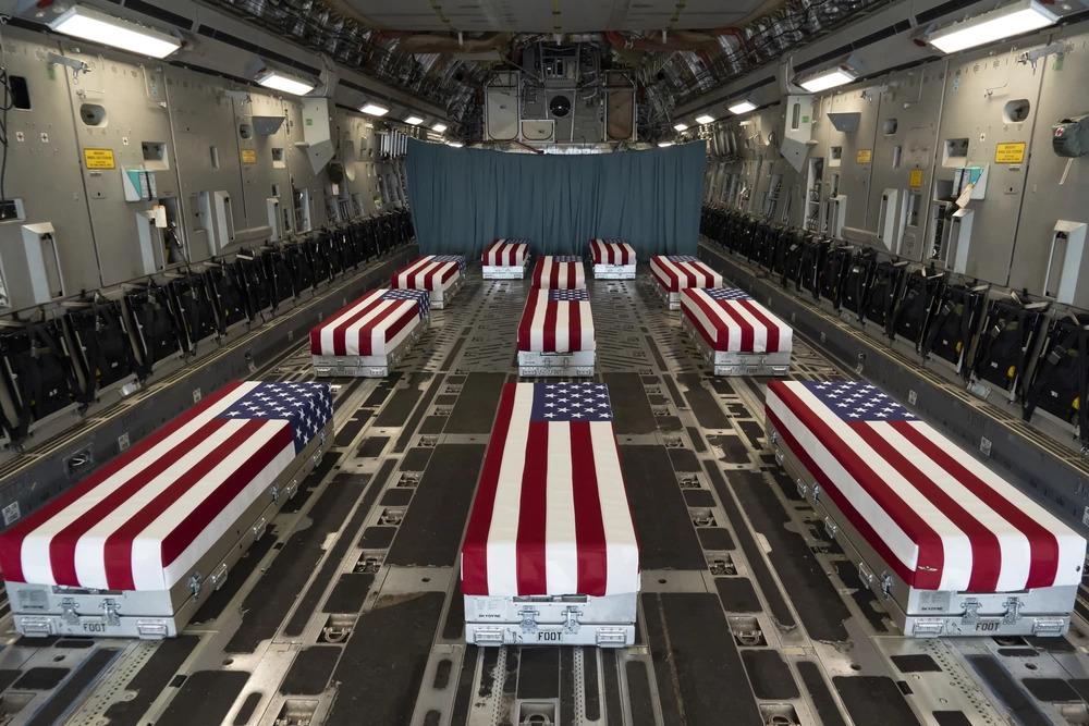 Tranfer cases of service members killed in HKIA bombing