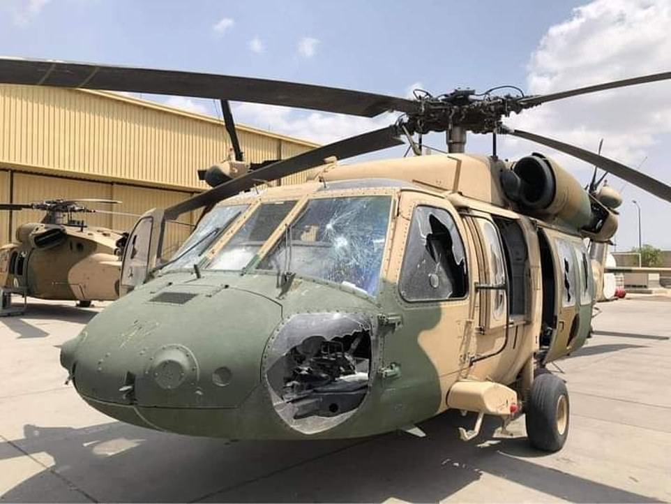 Helicopter, among other equipment, left at Kabul airport