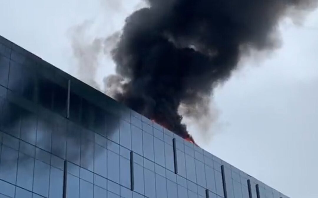 Explosion heard in DC before high-rise fire